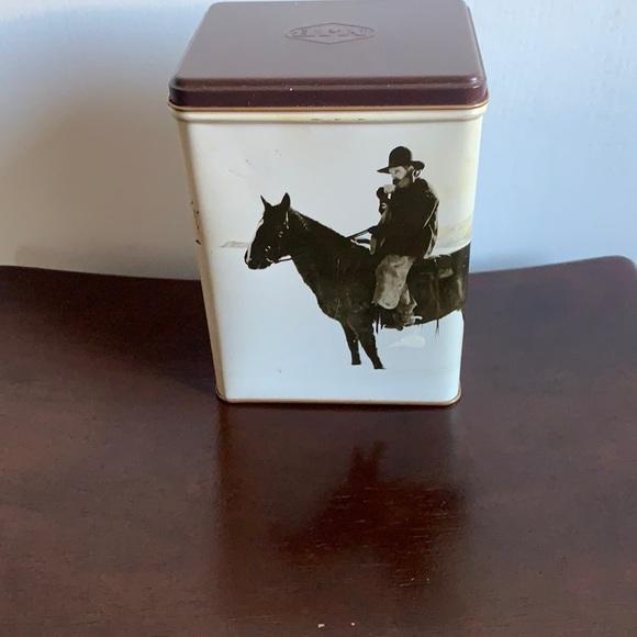 Special Blend MJB Coffee Cowboy Storage Tin